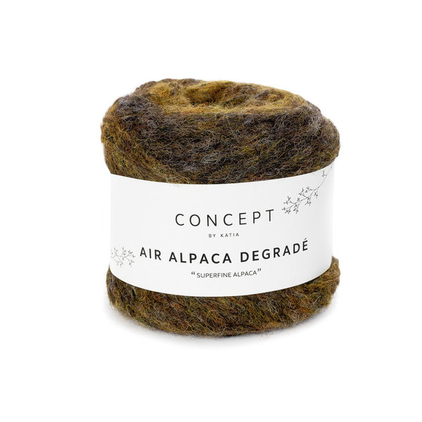 Air Alpaca Degrade ocker-braun (63) 50 g /LL 230 m