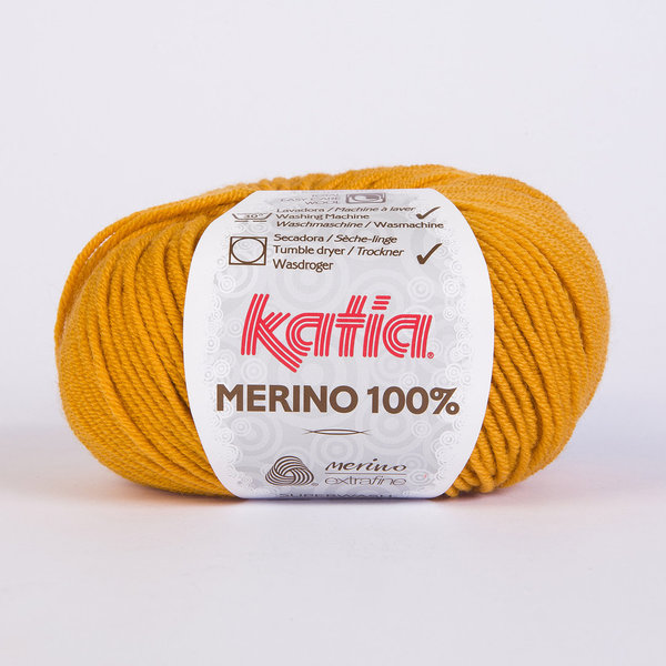 Merino 100 % orange 50 g / LL ca. 102 m