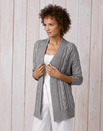 Cotton-Cashmere Set Strickjacke inkl. Anleitung